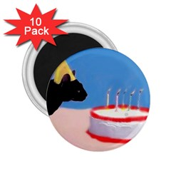 Birthday Kitty! 2 25  Button Magnet (10 Pack)