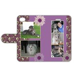 Purple iPhone 4/4S Leather Folio Case - Apple iPhone 4/4S Leather Folio Case