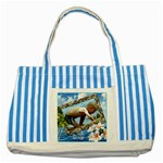 Island Striped Blue Tote Bag