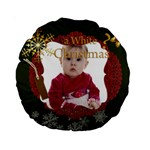 christmas - 15  Premium Round Cushion