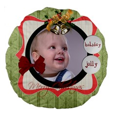 Christmas By Debe Lee   Large 18  Premium Round Cushion    F5xmi48swd9o   Www Artscow Com Back