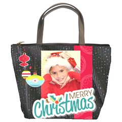 Christmas Bag Tonya By Meredith Hazel   Bucket Bag   6rnoyh23wi55   Www Artscow Com Front