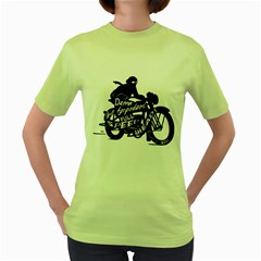 Full Speed Ahead! Womens  T Shirt (green) by Contest1714654