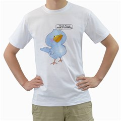 Tweety Bird Mens  T Shirt (white) by Contest1714697