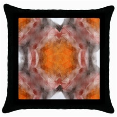 Seamless Background Fractal Black Throw Pillow Case by hlehnerer