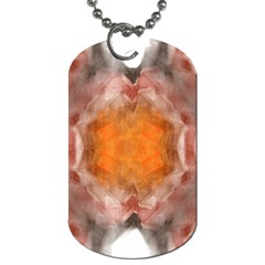 Seamless Background Fractal Dog Tag (two Sided)  by hlehnerer