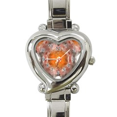 Seamless Background Fractal Heart Italian Charm Watch  by hlehnerer