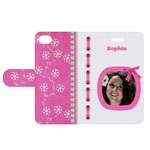 Princess Apple iPhone 4/4S Woven folio Case - Apple iPhone 4/4S Woven Pattern Leather Folio Case