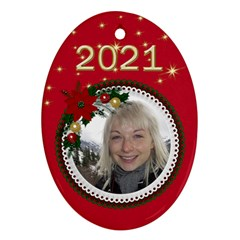 Oval Christmas Ornament (2 Sided) By Deborah   Oval Ornament (two Sides)   Rcf16h7mc3vm   Www Artscow Com Front