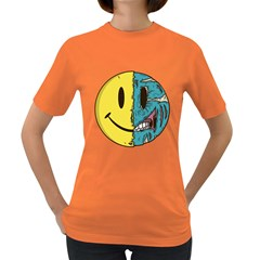 Smiley Two Face Womens' T Shirt (colored) by Contest1714880