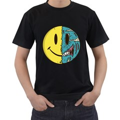 Smiley Two Face Mens' T Shirt (black) by Contest1714880