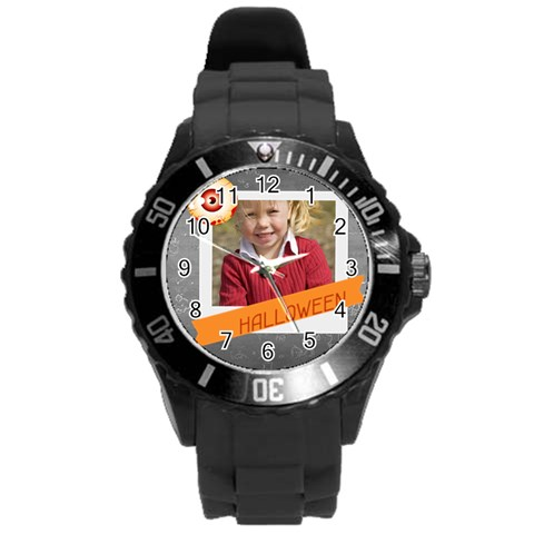 Helloween By Helloween   Round Plastic Sport Watch (l)   E9h65toic0bm   Www Artscow Com Front