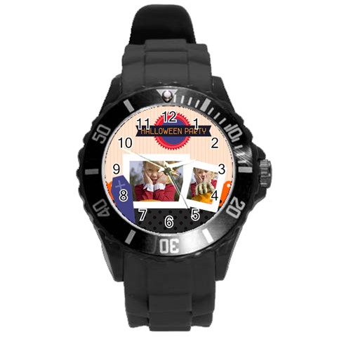 Helloween By Helloween   Round Plastic Sport Watch (l)   0uhhh1mvqjhq   Www Artscow Com Front