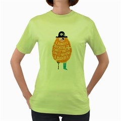 Plunder Womens  T Shirt (green) by Contest1714498