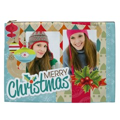 Christmas Gift By Merry Christmas   Cosmetic Bag (xxl)   S81ofcqd5oqu   Www Artscow Com Front