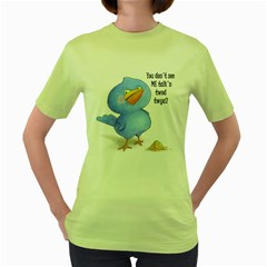 Angry Bird Womens  T Shirt (green)