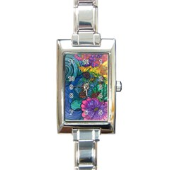 Beauty Blended Rectangular Italian Charm Watch by JacklyneMae