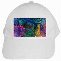 Beauty Blended White Baseball Cap