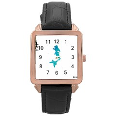 Ocean Rose Gold Leather Watch  by Contest1707506
