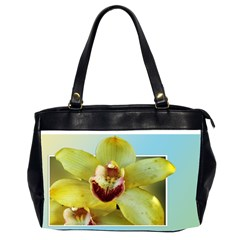Beautiful Yellow Orchid, Oversize Office Handbag (two Sides) by designsbyvee