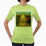 say no to drugs Womens  T-shirt (Green) Front