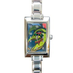 Jester Rectangular Italian Charm Watch by JacklyneMae