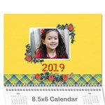 Wall Calendar 8.5 x 6 - Flower Blooms - Wall Calendar 8.5  x 6