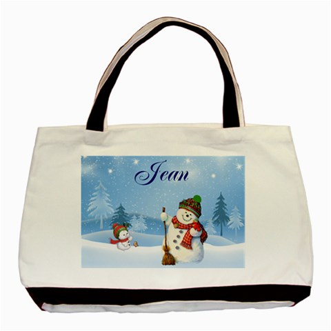 Snowman Bag For Jean By Karen   Basic Tote Bag   Xmv3hi9ngb9r   Www Artscow Com Front