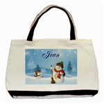 snowman bag for jean - Basic Tote Bag
