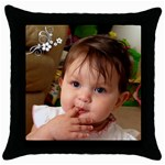 11 - Throw Pillow Case (Black)