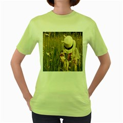 I Miss Summer Womens  T Shirt (green) by Contest1716206
