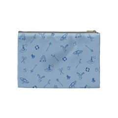 Camping Blue By Brideofbmo   Cosmetic Bag (medium)   G8vj0ui29nsc   Www Artscow Com Back