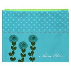 Cosmetic Bag (xxxl)   Aqua Dreams By Jennyl   Cosmetic Bag (xxxl)   Qncd4or1wp93   Www Artscow Com Front