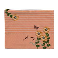 Cosmetic Bag (xl)   Stripes And Orange By Jennyl   Cosmetic Bag (xl)   Kduc1tgz27sq   Www Artscow Com Front