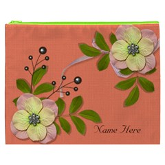 Cosmetic Bag (xxxl)   Big Flowers6 By Jennyl   Cosmetic Bag (xxxl)   Qq0zzbmw7qtu   Www Artscow Com Front