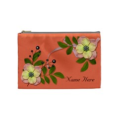 Cosmetic Bag (medium)   Big Flowers6 By Jennyl   Cosmetic Bag (medium)   Mtu6swt66nkl   Www Artscow Com Front
