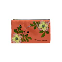 Cosmetic Bag (small)   Big Flowers6 By Jennyl   Cosmetic Bag (small)   Mcgxtj4x3y1b   Www Artscow Com Front