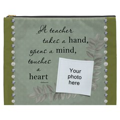 Teacher Xxxl Cosmetic Bag By Lil    Cosmetic Bag (xxxl)   T5qch1fhquf3   Www Artscow Com Front