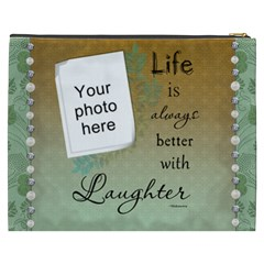 Laughter Xxxl Cosmetic Bag By Lil    Cosmetic Bag (xxxl)   Are9rpz9wbmk   Www Artscow Com Back