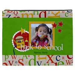 Cosmetic Bag (xxxl)   Back To School By Jennyl   Cosmetic Bag (xxxl)   N966zjrdbfup   Www Artscow Com Front