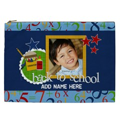 Cosmetic Bag (xxl)   Back To School14 By Jennyl   Cosmetic Bag (xxl)   Lijri1cndsc0   Www Artscow Com Front