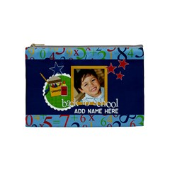 Cosmetic Bag (medium)  Back To School14 By Jennyl   Cosmetic Bag (medium)   6qkjx2jr2ebw   Www Artscow Com Front