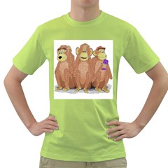 monkeys, as usual. Mens  T-shirt (Green) by Contest1714697