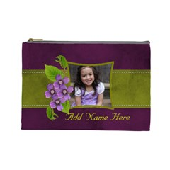 Cosmetic Bag (l)   Purple Kiss By Jennyl   Cosmetic Bag (large)   Vptw78nd5m8s   Www Artscow Com Front