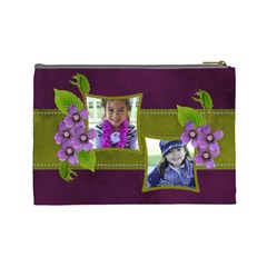 Cosmetic Bag (l)   Purple Kiss By Jennyl   Cosmetic Bag (large)   Vptw78nd5m8s   Www Artscow Com Back