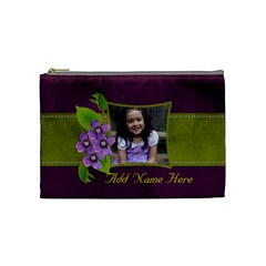 Cosmetic Bag (m)   Purple Kiss By Jennyl   Cosmetic Bag (medium)   M23d6auvaka4   Www Artscow Com Front