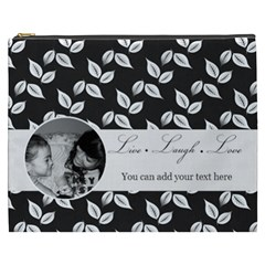 Cosmetic Bag (xxxl)   B/w   Live Laugh Love By Jennyl   Cosmetic Bag (xxxl)   Rewvgc4n57rc   Www Artscow Com Front