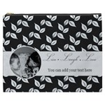Cosmetic Bag (XXXL) - B/W - Live Laugh Love