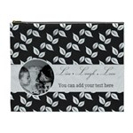 Cosmetic Bag (XL) - B/W - Live Laugh Love