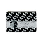 Cosmetic Bag (M) - B/W Live Laugh Love - Cosmetic Bag (Medium)